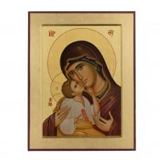 Obraz/Ikona Matka Boża z Dzieciątkiem 18 x 23 cm
