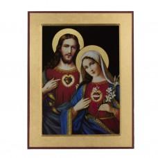 Obraz/Ikona Serce Pana Jezusa i Serce Maryi 13 x 17 cm