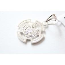 Krzyżyk srebrny z Medalem św. Benedykta