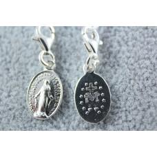 Medalik srebrny Matka Boża Niepokalana z karabińczykiem